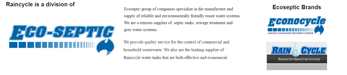 Raincycle is a division of ECO-SEPTIC