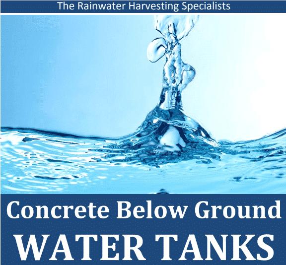 Concrete Below Ground Water Tanks
